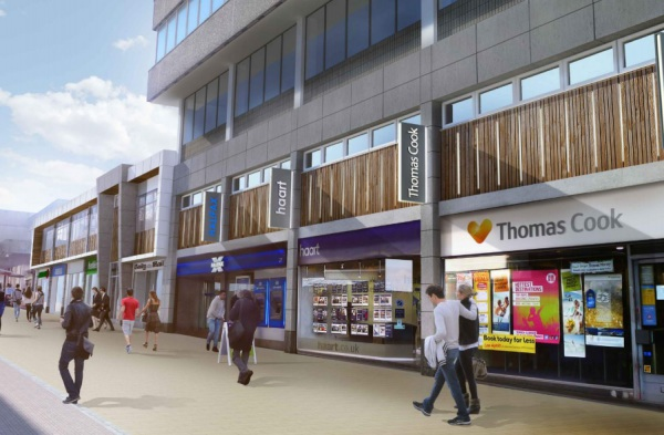 New view of Bracknell shops
