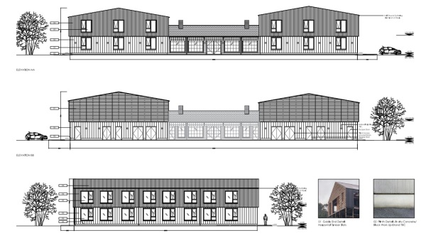 The proposed motel