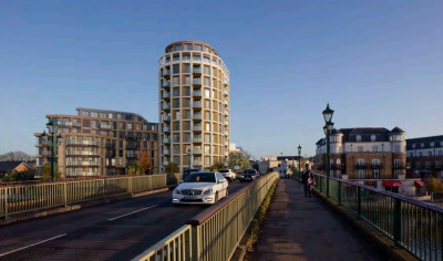 Go-ahead for 205 riverside flats in Staines