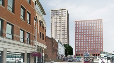 New plan for 107 apartments in Station Road, Reading