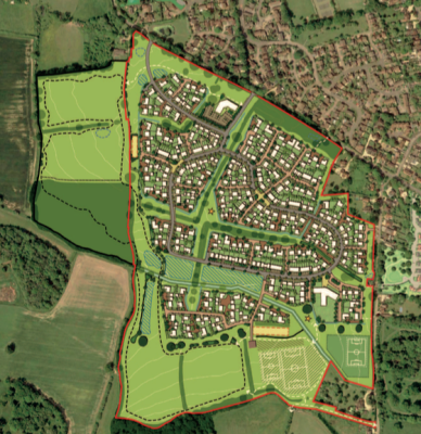 Plans for another 350 homes at Binfield