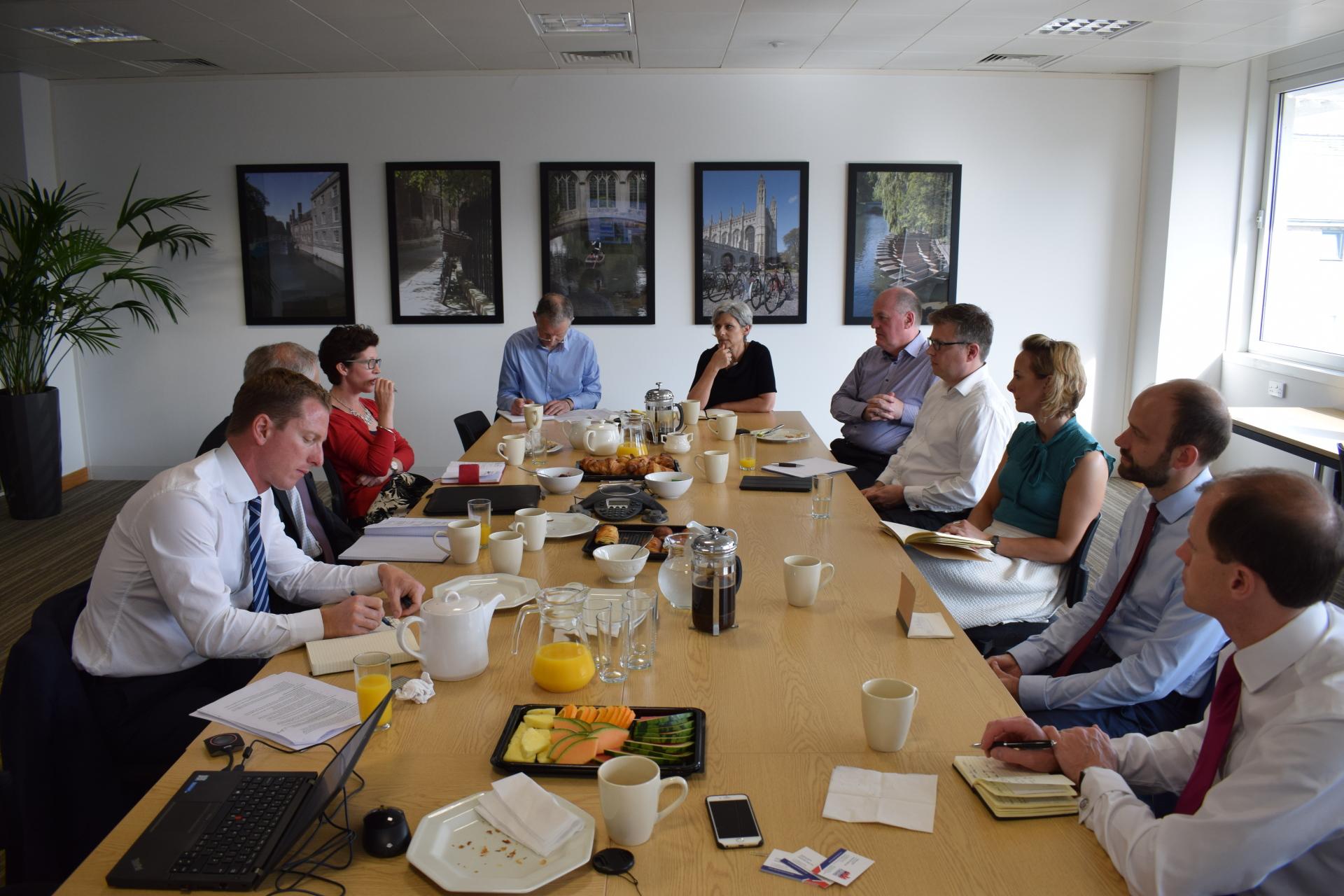 Inaugural UKPF round table: Future-proofing the Cambridge economy is vital