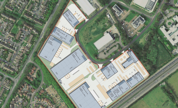 Seven industrial buildings planned at Basingstoke site