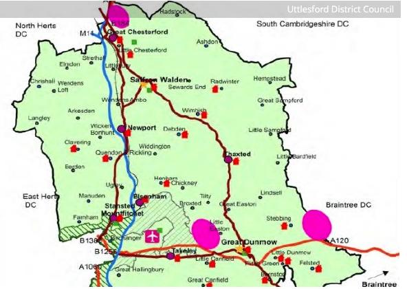Three garden villages proposed in Uttlesford
