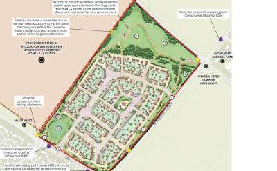 Gladman Developments plans 230 homes at Chalgrove
