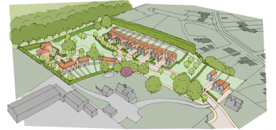 Plans submitted for 23 homes at Woodcote