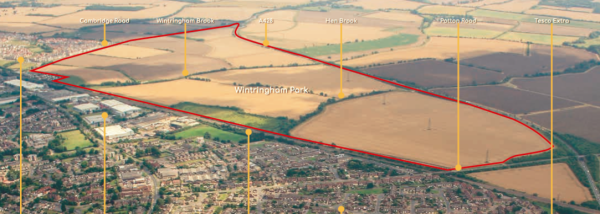 Application for 2,800 homes at St Neots
