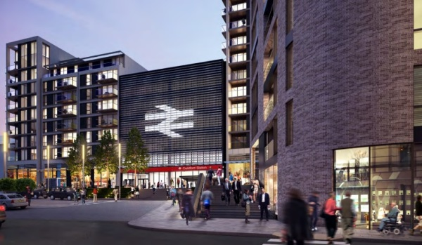 438 flats and new station buildings for Guildford