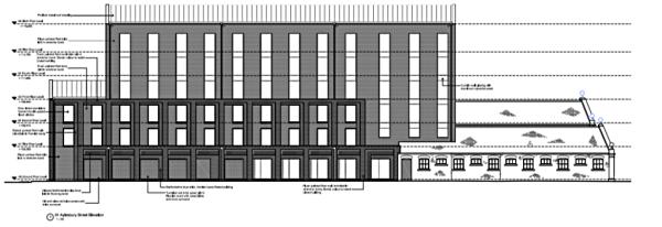 112-bed Hampton by Hilton plan for Swindon
