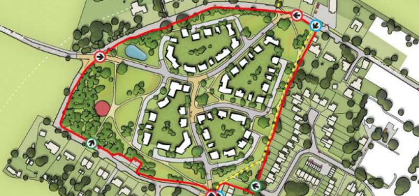 Two housing schemes proposed for Woodcote site