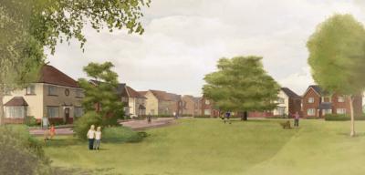 150 homes near Milton Keynes
