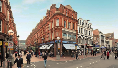 'Bustling village' planned for Reading's Queen Victoria Street