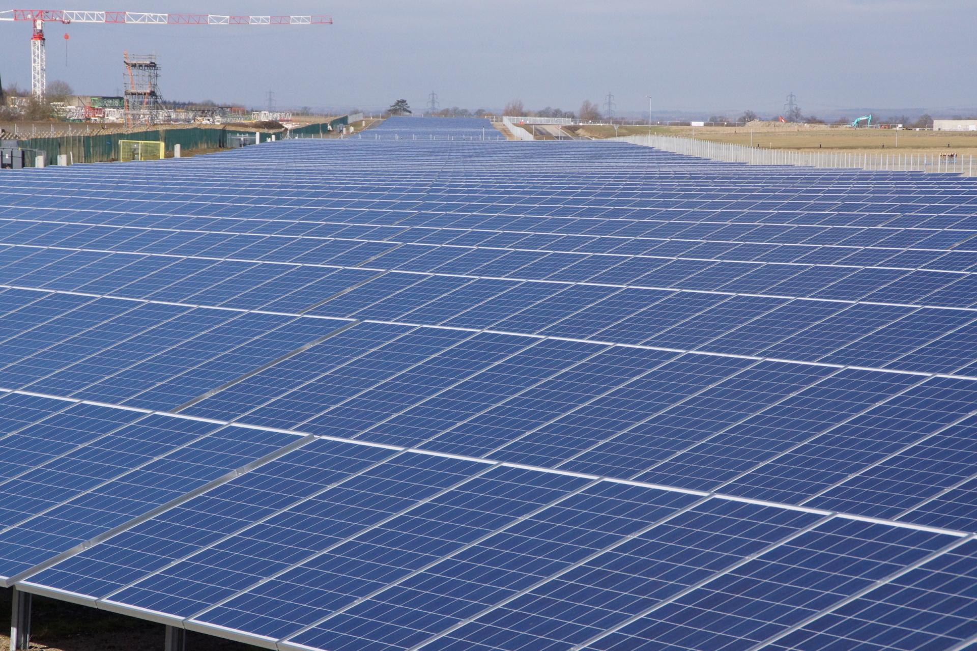 Huge new solar power plant for Westcott Venture Park