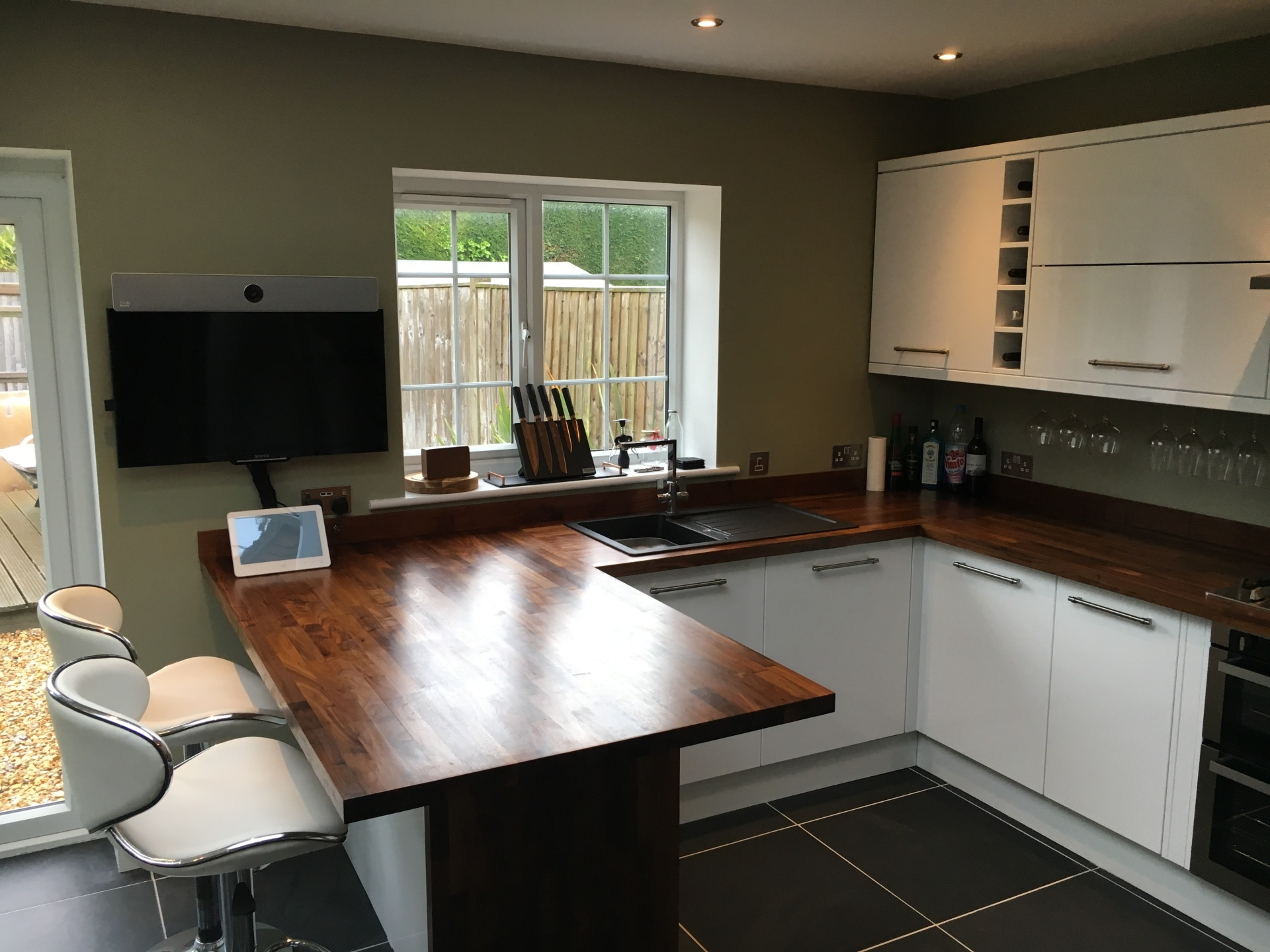 Kitchen Install with natural slate flooring