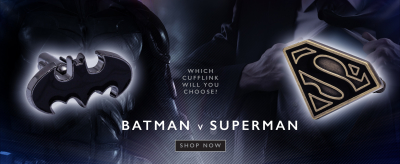 Batman V Superman - Which Cufflink will you choose?