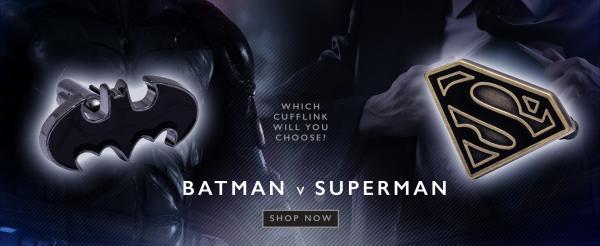 Batman V Superman - Which Cufflink will you choose?