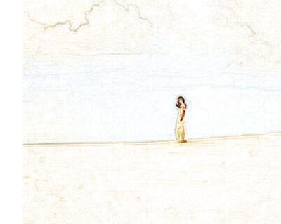 SAND GIRL SKETCH - JENNY DOWNING