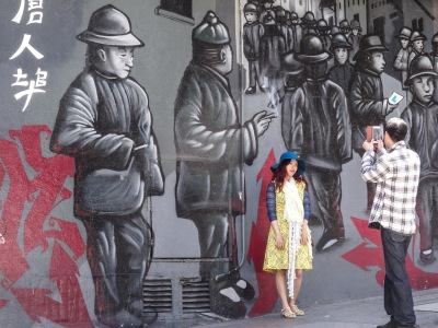 CHINATOWN STREET SCENE X 2 - SANDY GILBERT
