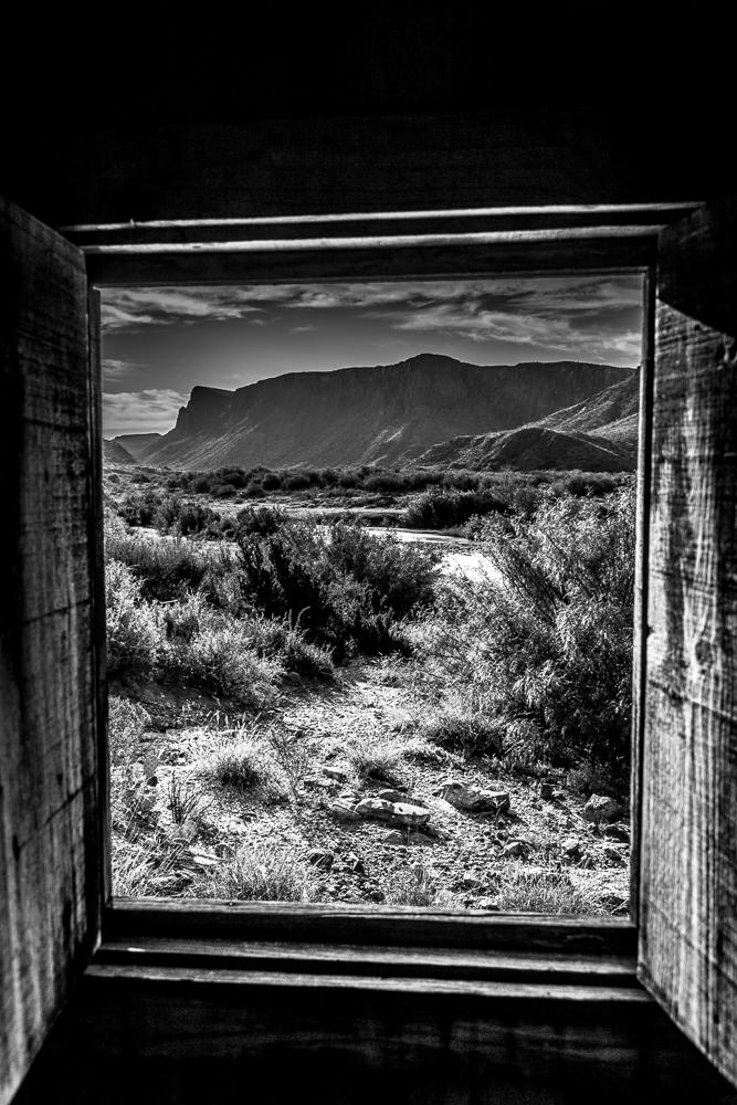 B&W - Big Bend Window - Mary Hulett