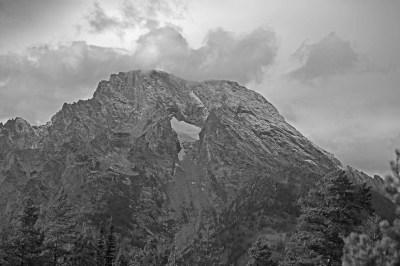 B&W - Hole in Mountain - Steve Touchstone