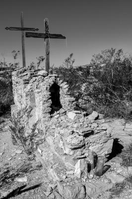 B&W - Terlingua Cemetery - Jerry Kloehr