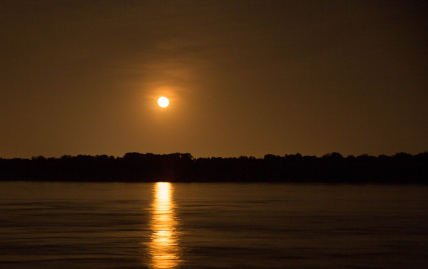 Assignment - June Moon light over the Mississippi Water - David Goodge