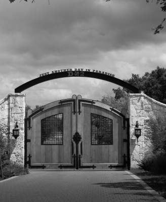 Gate with a Motto -Dale Wood