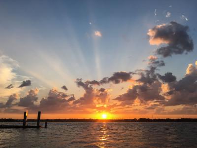 """SUNSET OVER THE INTERCOASTAL"" Sandy Gilbert"