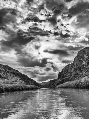 """Stormy Day on the Rio Grande"" - Sandy Gilbert"