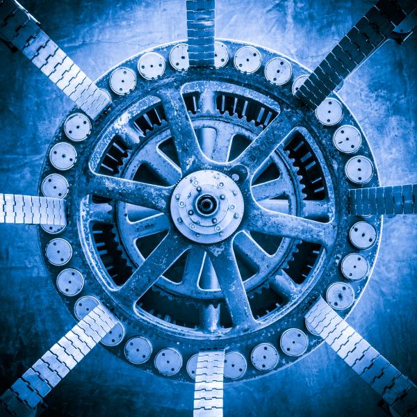 """""""Geared Blue"""" - Allen Skiles"""