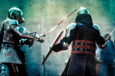 """Dueling Knights"" - Allen Skiles"