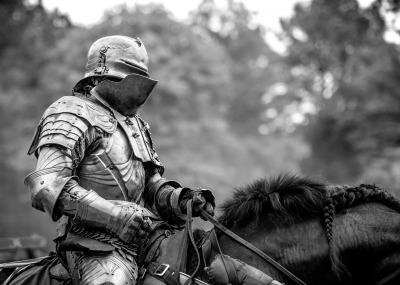 """Jousting Knight"" - Allen Skiles"