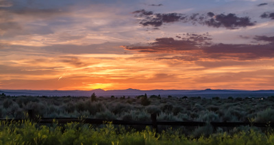 """Sunset & Sagebrush, Taos"