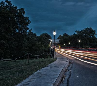 """Landa Bridge at Night"" - Homer Gilbert"