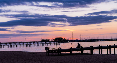 """""""Sitting on the Dock of the Bay"""" - Sandy Gilbert"""