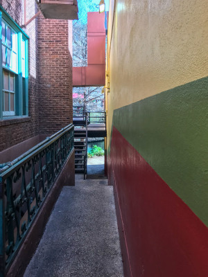 """Colorful Alley"" by Sandy Gilbert"
