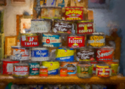 Old Coffee Cans by Ralph Nordenhold