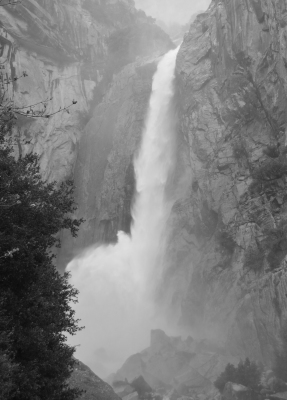 Lower Yosemite Falls Mist by Beverly Cobb