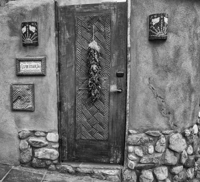 Old Santa Fe Door by Sharon Deeny