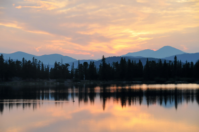 Echo Lake Sunset by Beverly Cobb