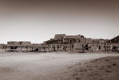 Taos Pueblo by Sandy Gilbert