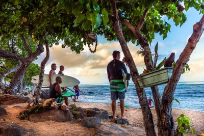 Waikiki Surfers by Scott Stevens