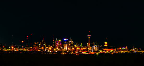 San Antonio Skyline at Night by Anthony Shearin