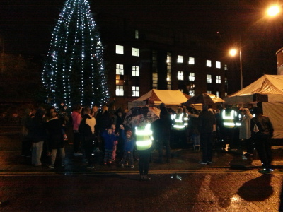 Lighting of Christmas tree of HOPE at Sheriff Street