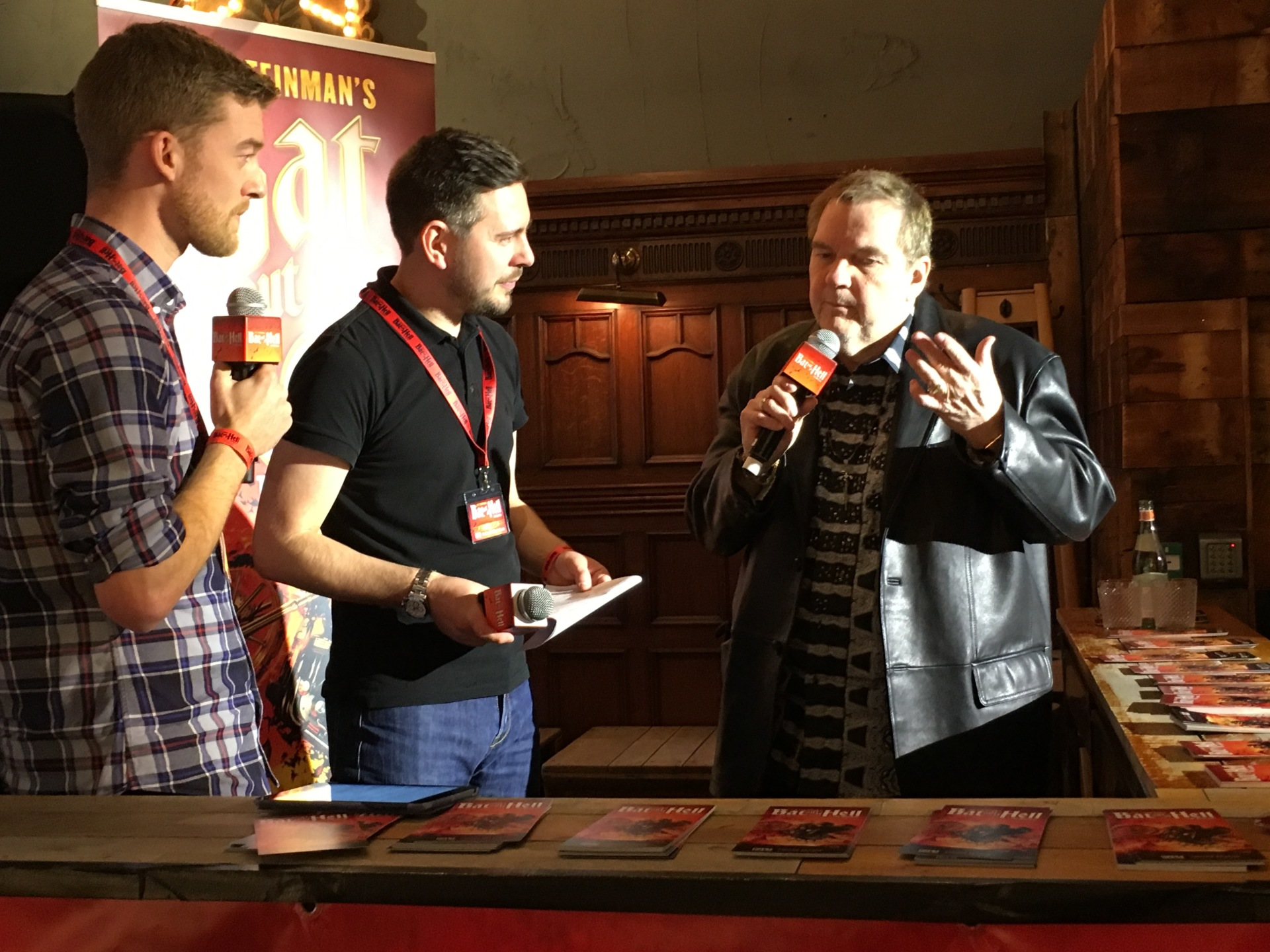 Hosting the launch of Meatloaf's new musical Bat Out of Hell