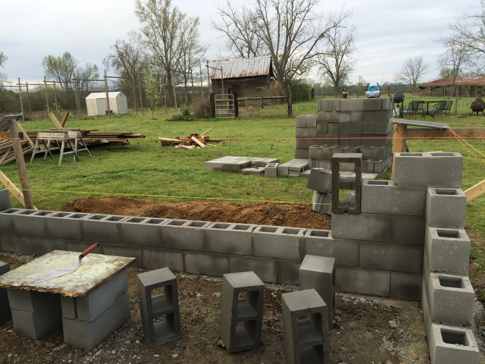 A Block Foundation For an Addition!
