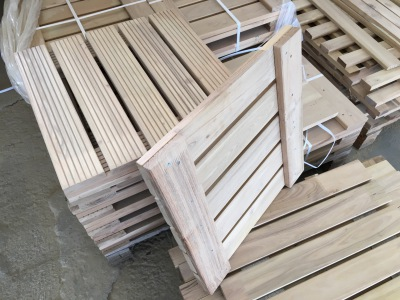 Hardwood Robinia Decking Tiles Squares
