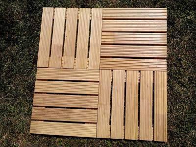 Hardwood  Decking Tile Robinia