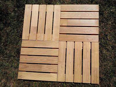 Hardwood  Decking Tile Robinia