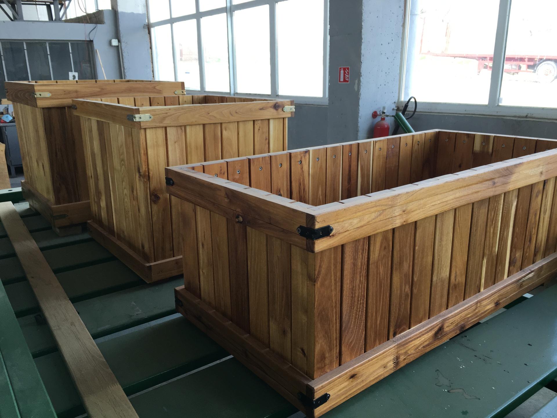 Handmade Hardwood Planters